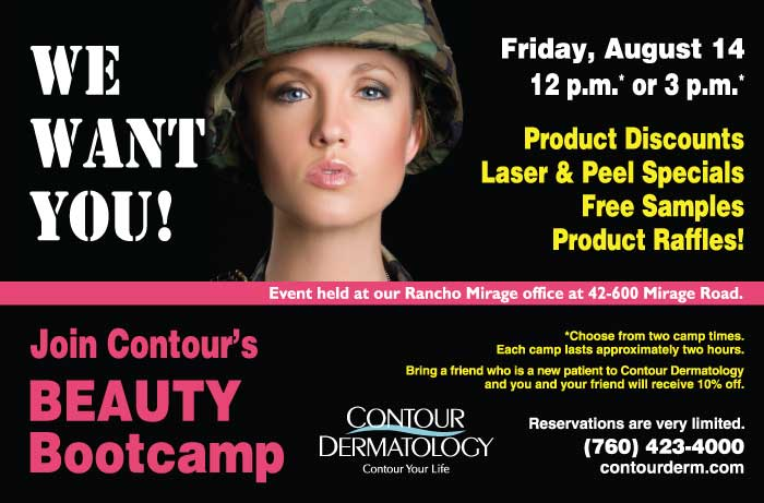 We want you for Beauty Boot Camp at Contour Dermatology