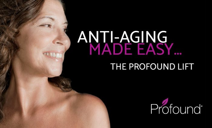 Profound is a minimally invasive procedure that works through the use of radio frequency energy, to stimulate the production of collagen, elastin and hyaluronic acid.