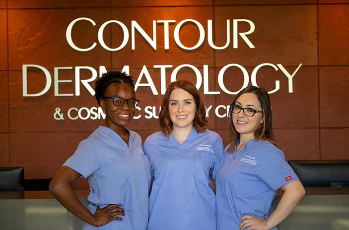 Contour Estheticians, Micayla, Kelly, and Adriana
