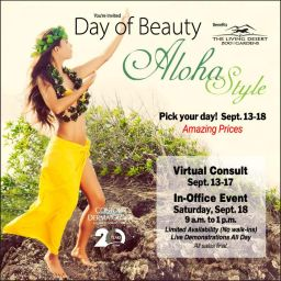 You're Invited to our Luau Day of Beauty